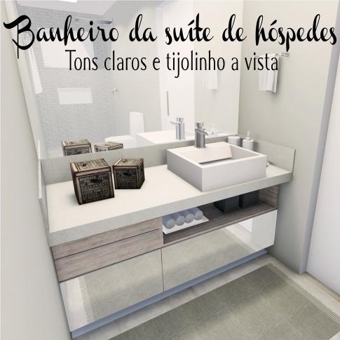 Banheiro da suíte de hóspedes